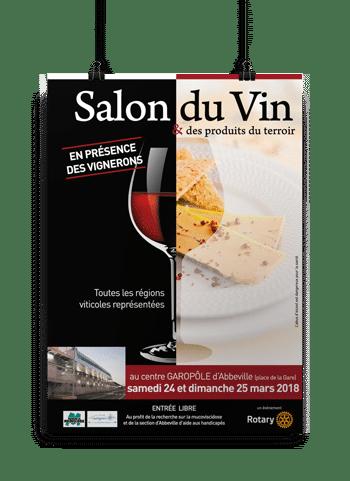 "Affiche ""Salon du vin"" Rotary"